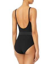 Nina Belted One Piece Swimsuit, BLACK, hi-res
