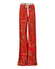 Pearson Floral Wide Leg Pants, RED, hi-res