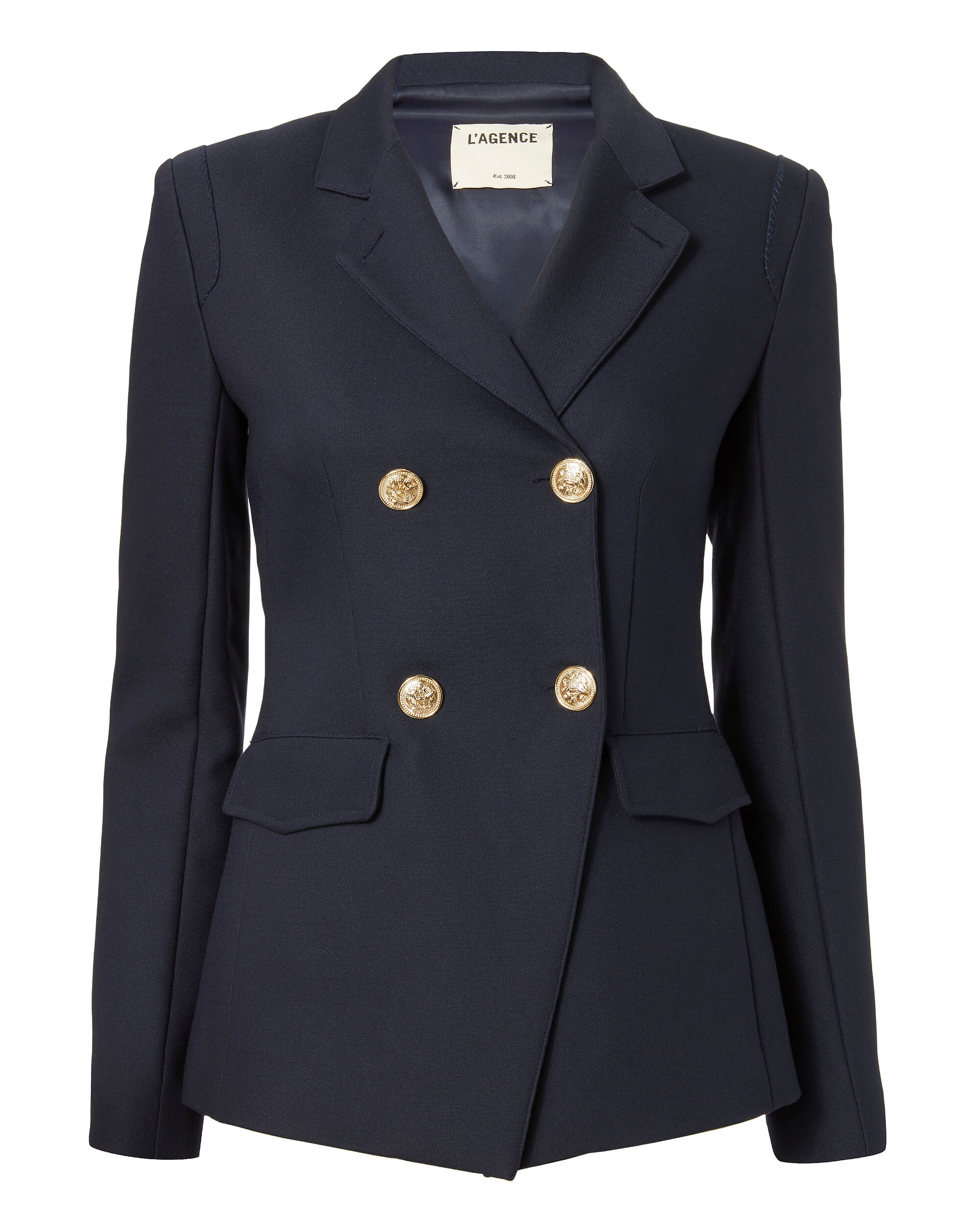 Marc Double-Breasted Blazer, NAVY, hi-res
