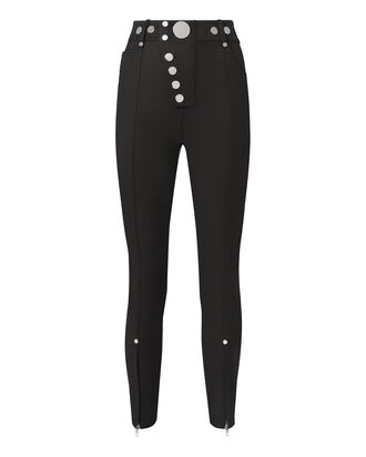 High-Waisted Snap Leggings, BLACK, hi-res