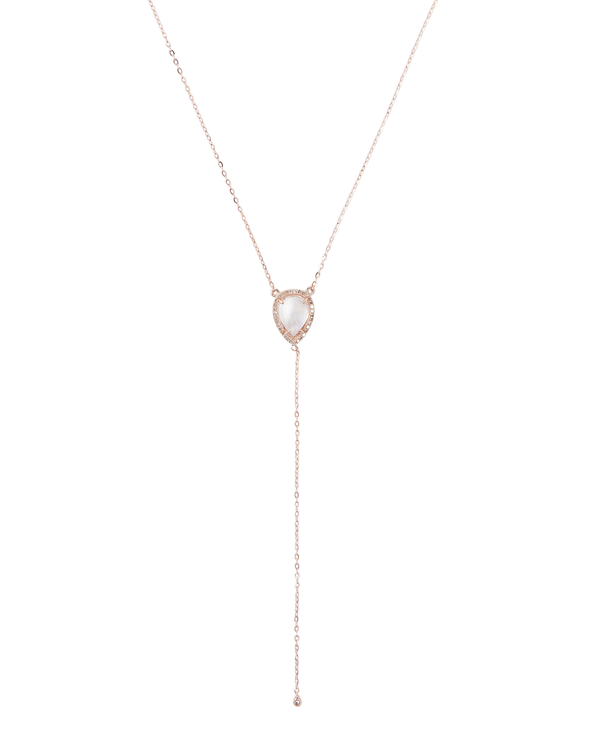 Yael Y Moonstone Necklace, METALLIC, hi-res