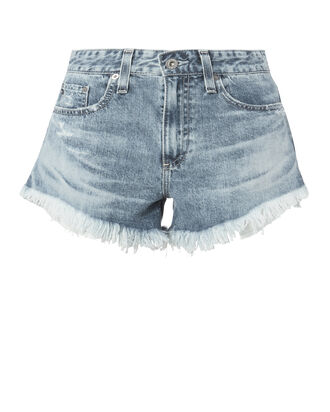 Sadie Cut Off Denim Shorts, DENIM, hi-res
