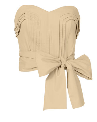 Ashten Strapless Top, BEIGE/KHAKI, hi-res