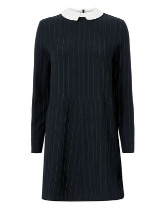 Clark Collared Shift Dress, NAVY, hi-res