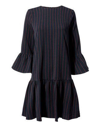 Clark Striped Dress, BLACK, hi-res