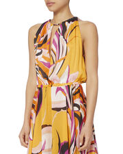 Chain Neck Printed Maxi Dress, , hi-res