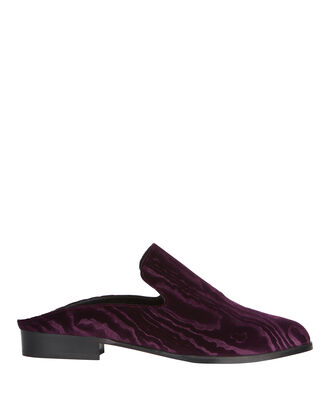Alice Velvet Loafer Slides, RED, hi-res
