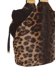 Kit Haircalf Leopard Bag, BROWN, hi-res