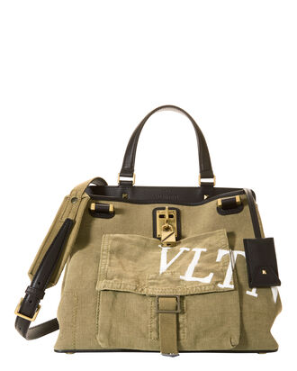 Joylock Military Medium Tote, BEIGE/KHAKI, hi-res