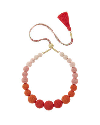 Ombré Gumball Necklace, CORAL, hi-res