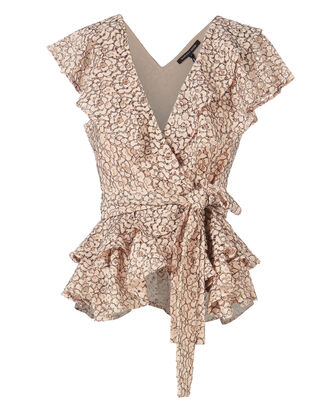 Maisie Lace Wrap Top, BLUSH/NUDE, hi-res