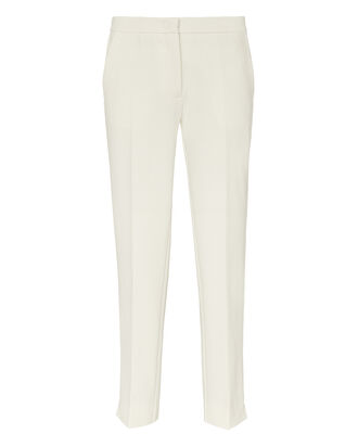 High-Rise Crop Flare Trousers, IVORY, hi-res