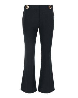 Grommet Detail Crop Trousers, NAVY, hi-res