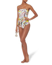 Strapless One Piece Swimsuit, GREEN-LT, hi-res