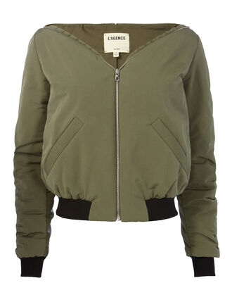 Ilaria Bomber Jacket, GREEN, hi-res