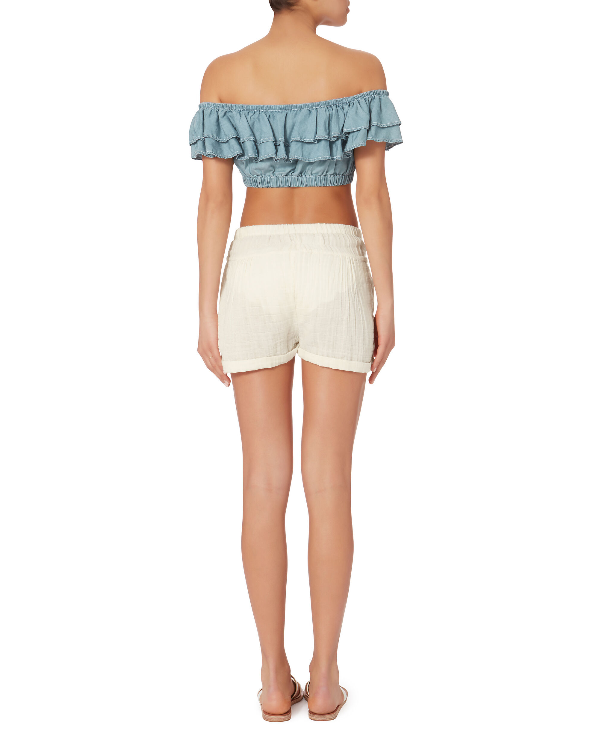 Stand Still Chambray Crop Top, DENIM, hi-res