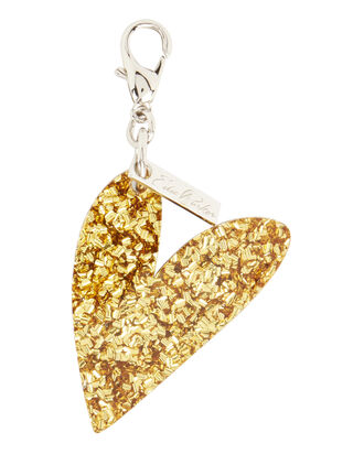 Gold Confetti Heart Charm, METALLIC, hi-res