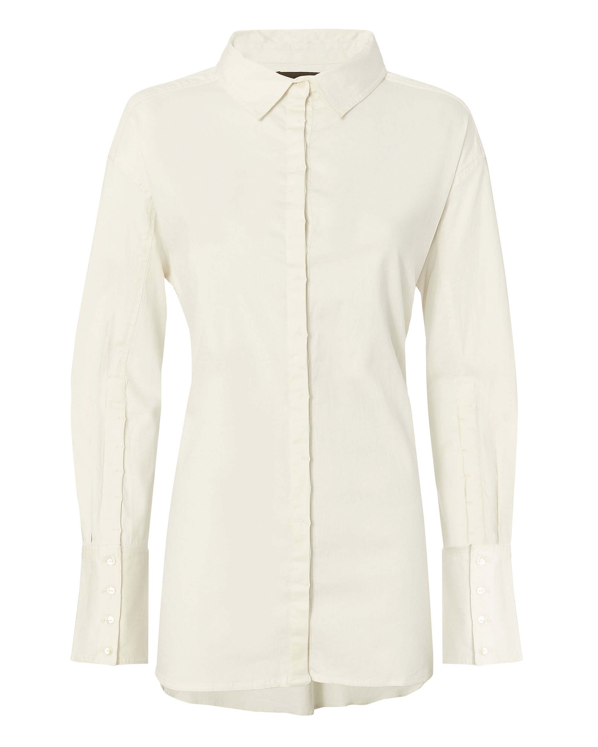 Hook White Button Down Shirt, IVORY, hi-res