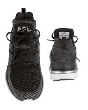Ascend Mesh High-Top Sneakers, BLACK, hi-res