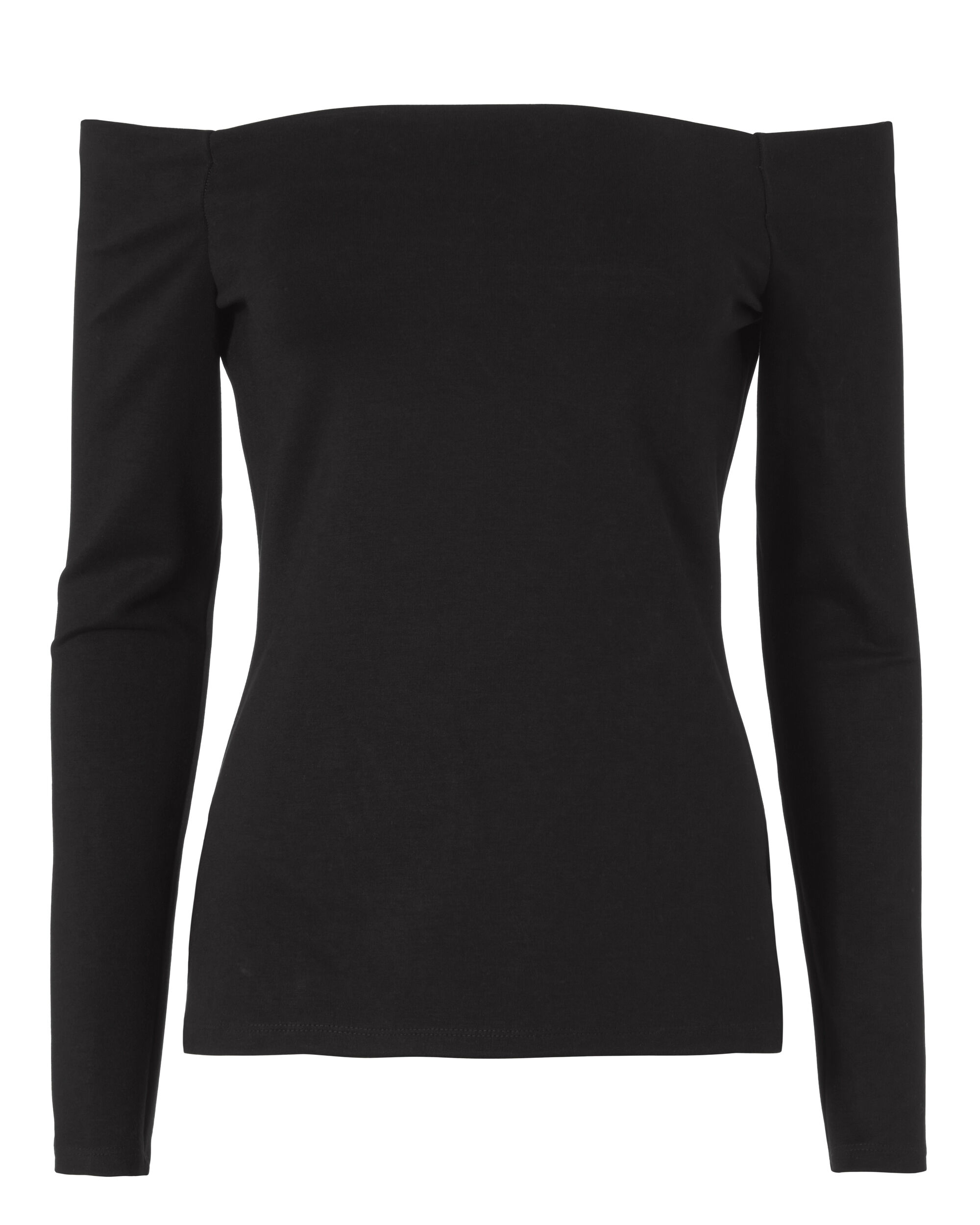 Cynthia Off-The-Shoulder Ponte Top, BLACK, hi-res