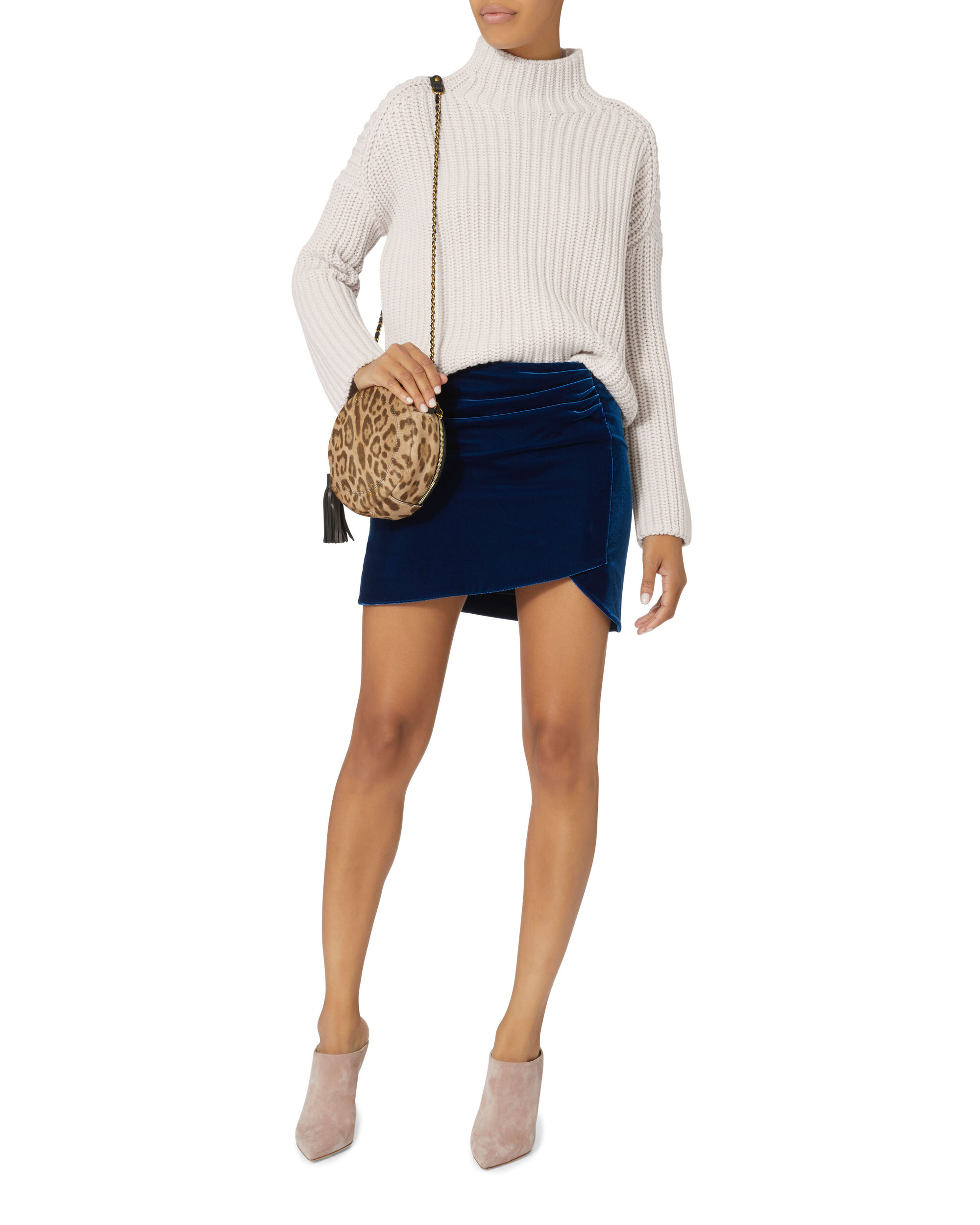 Armellyn Ribbed Turtleneck Sweater, NUDE, hi-res