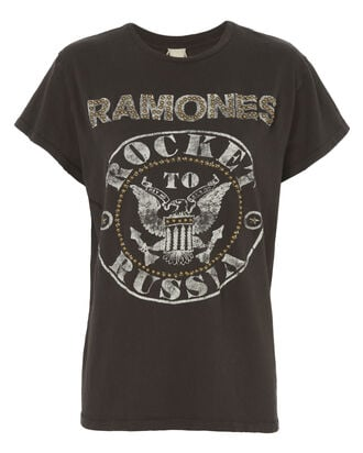 Ramones Studded Tee, BLACK, hi-res