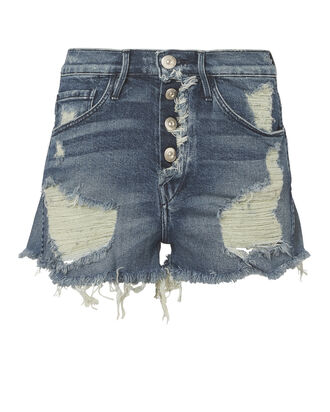 Liberty Cut Off Denim Shorts, DENIM, hi-res