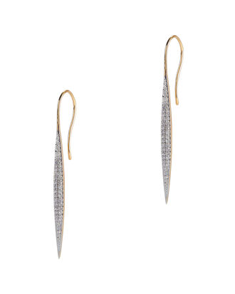 Pavé Marquis Gold Earrings, GOLD, hi-res