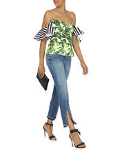 Alix Palm Striped Off-The-Shoulder Top, PRI-FLORAL, hi-res
