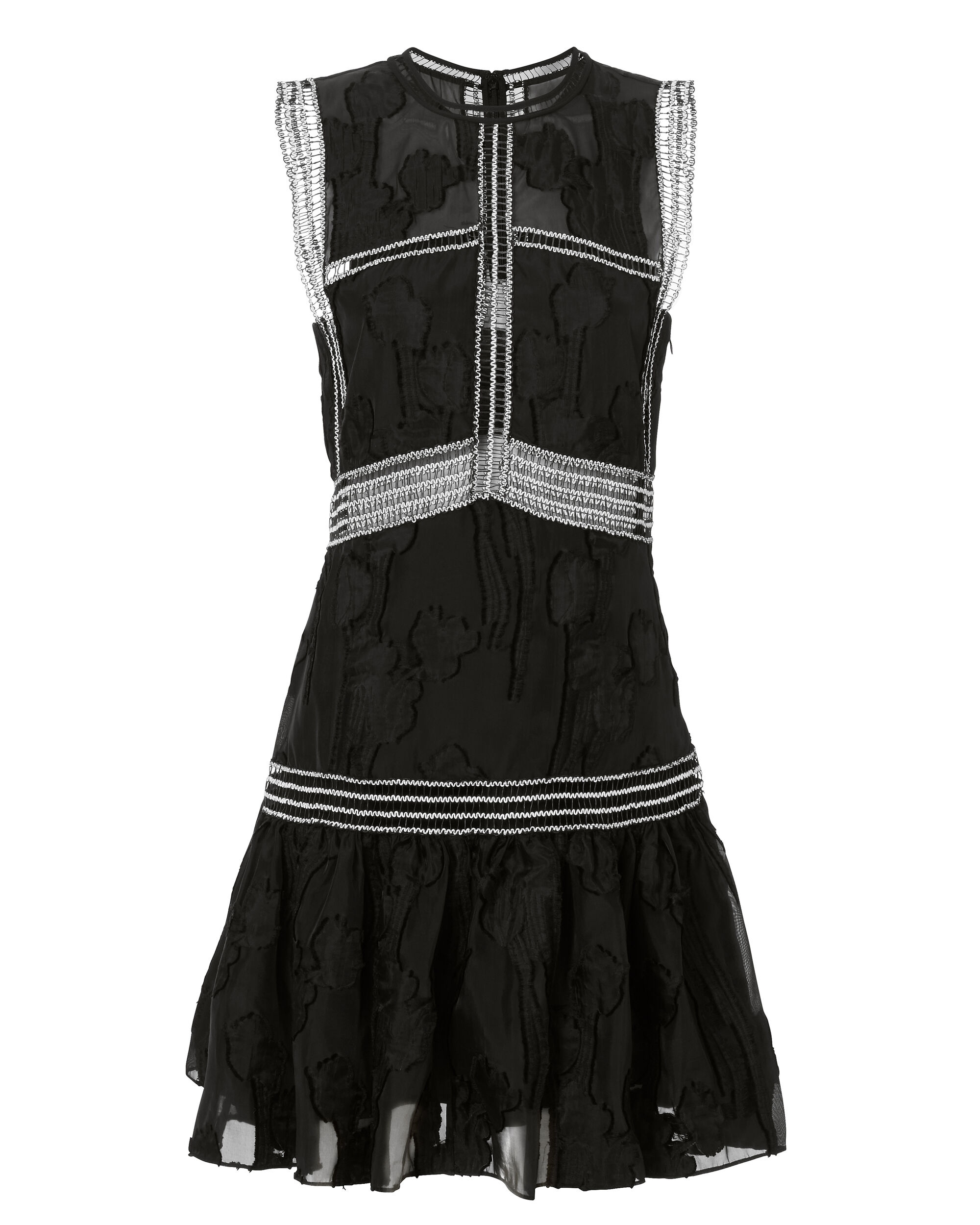 Rajani Embroidered Dress, BLACK, hi-res