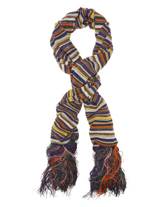 Lurex Stripe Fringe Trim Scarf, MULTI-LT, hi-res