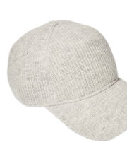 Marilyn Cashmere Baseball Cap, GREY, hi-res