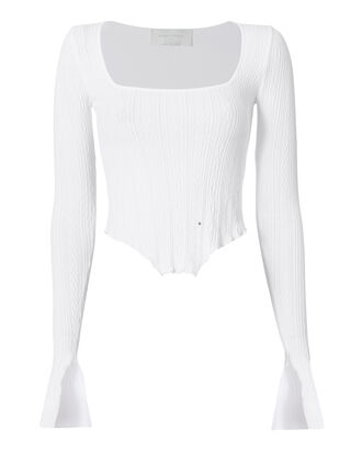 Kira Corset Hem Knit Top, , hi-res