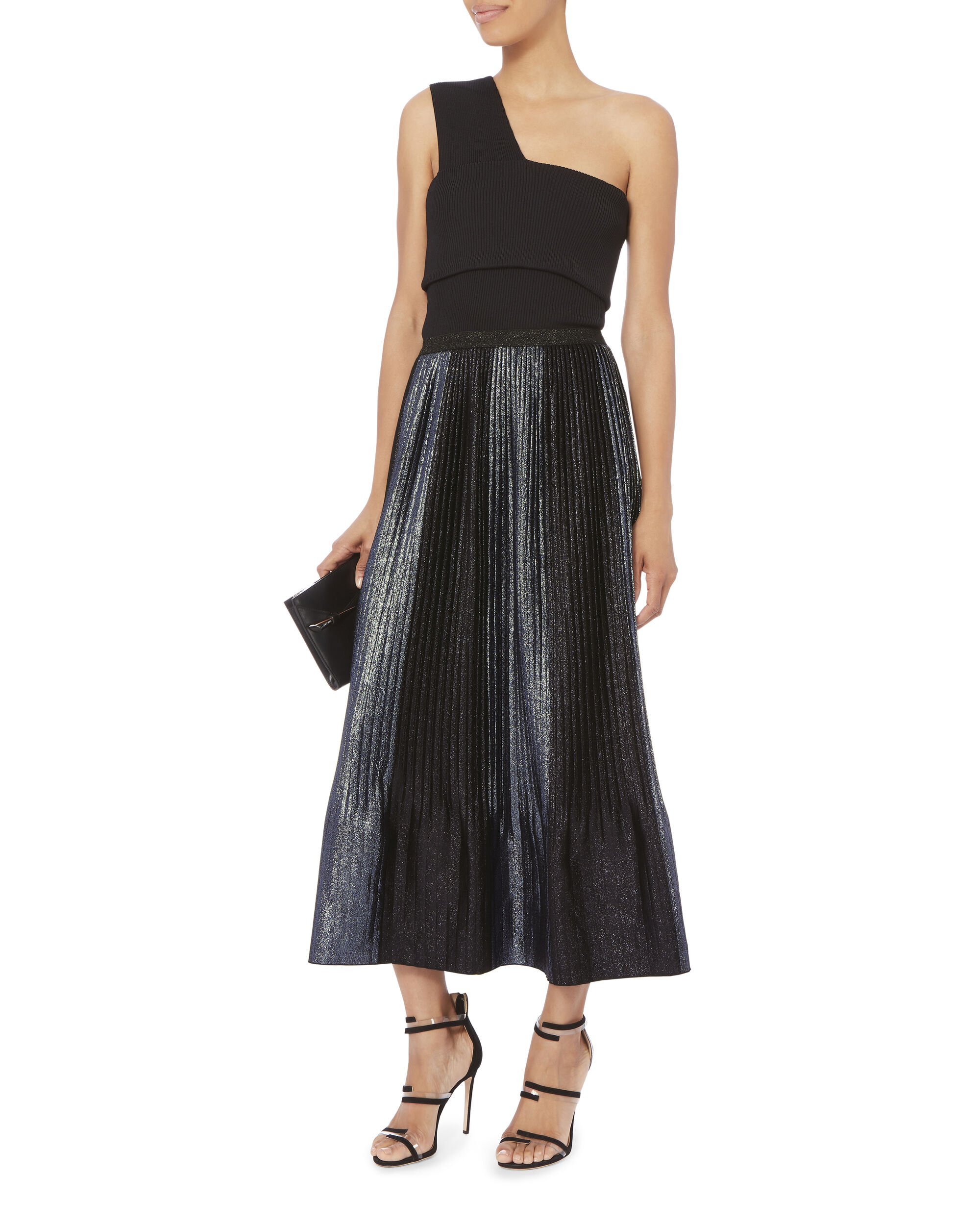 Topiary Pleated Skirt, PATTERN, hi-res