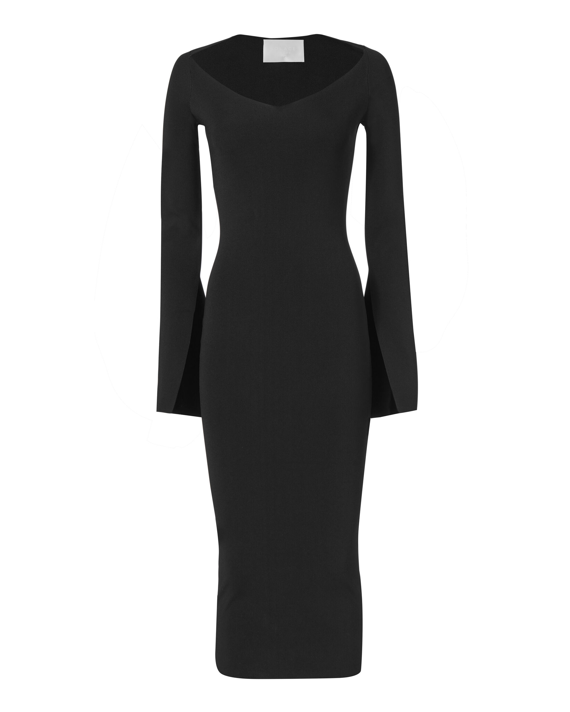 Sayen Black Midi Dress, BLACK, hi-res