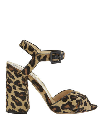 Emma Haircalf Leopard Sandals, PRINT, hi-res