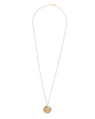 Arlene Star Diamond Coin Necklace, GOLD, hi-res