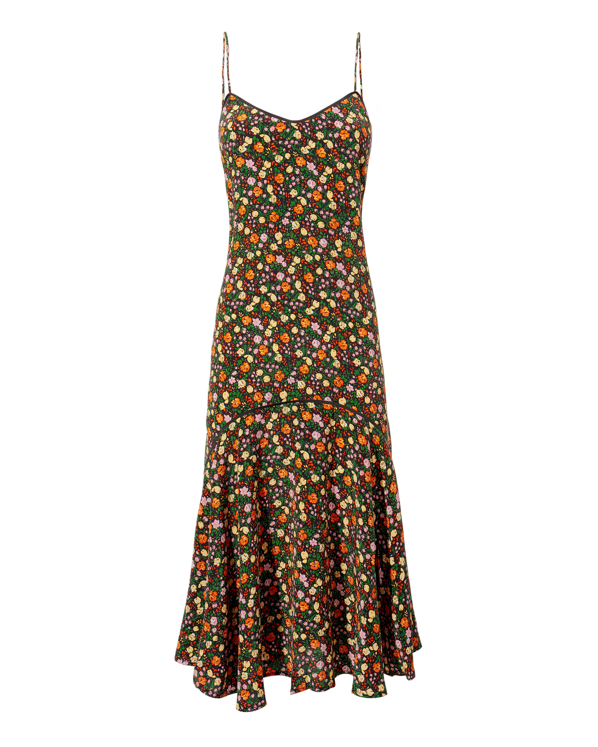 Joycedale Marina Multicolored Flutter Hem Dress, MULTI, hi-res
