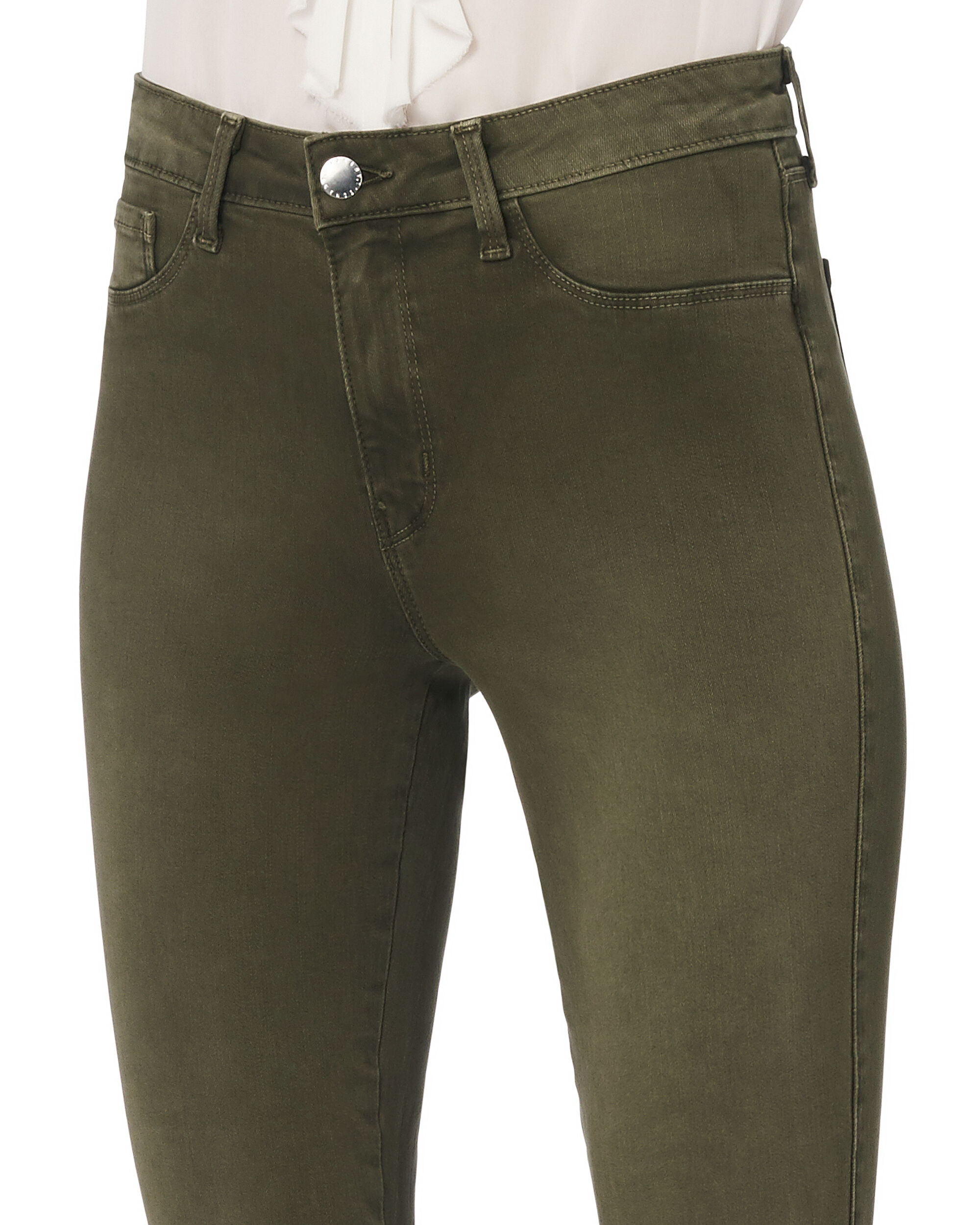 Margot Army High-Rise Ankle Skinny Jeans, OLIVE/ARMY, hi-res