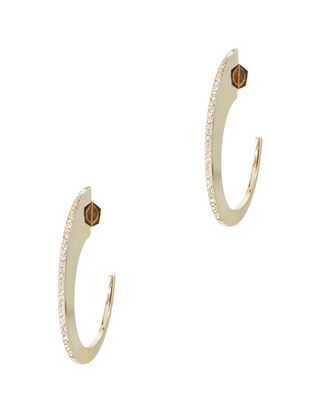 Pavé Slice Hoop Earrings, , hi-res