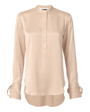 Dylan Tie Sleeve Blouse, BLUSH/NUDE, hi-res