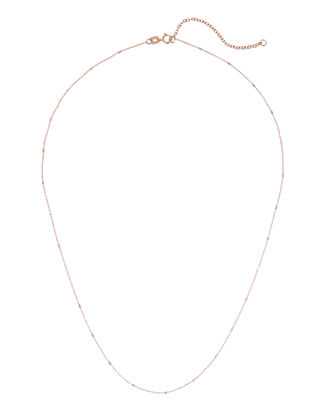 Dainty Rose Gold And Diamond Necklace, , hi-res
