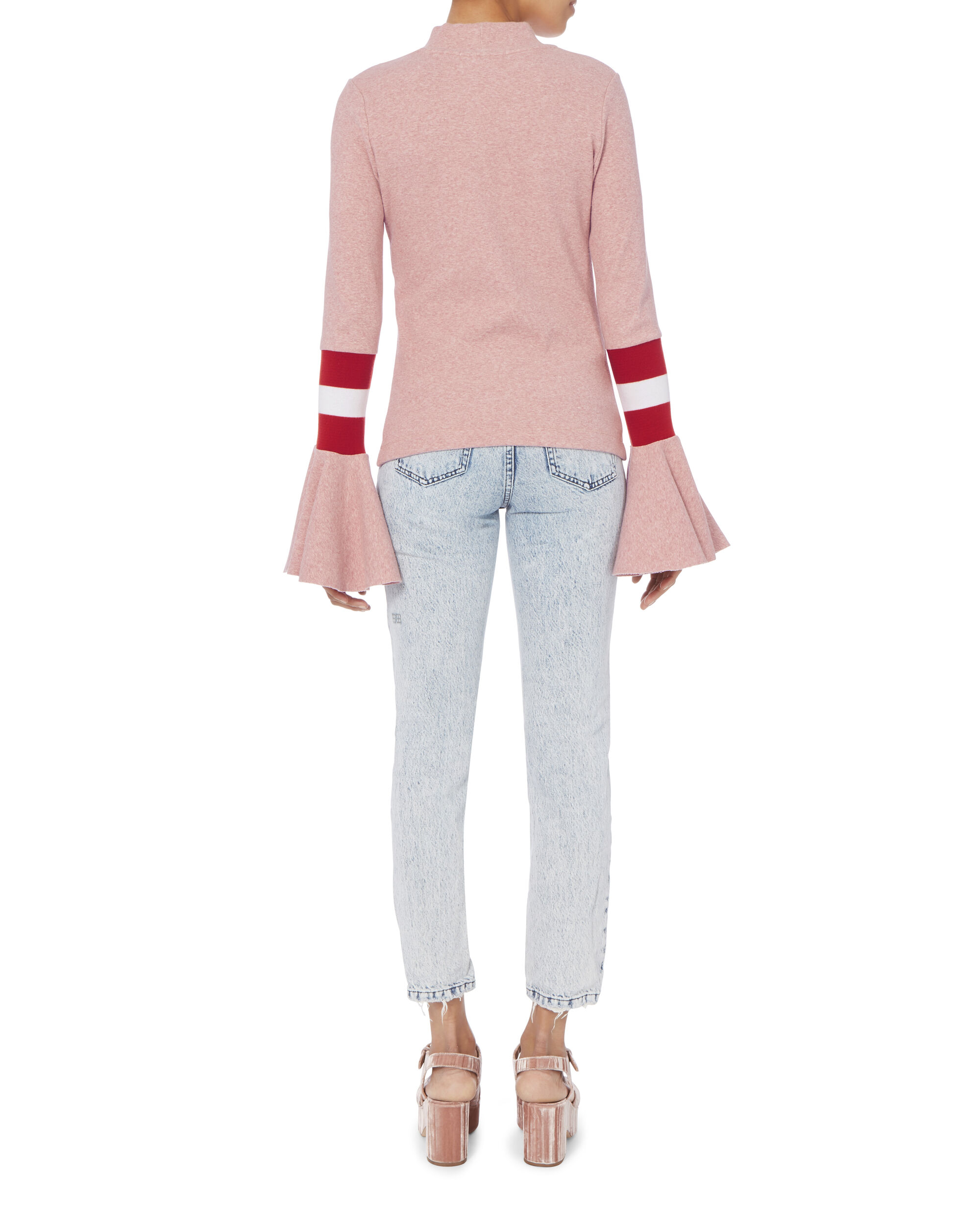 Stronger Than You Know Ruffle Sleeve Top, PINK, hi-res