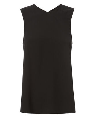 Knotted Back Top, BLACK, hi-res