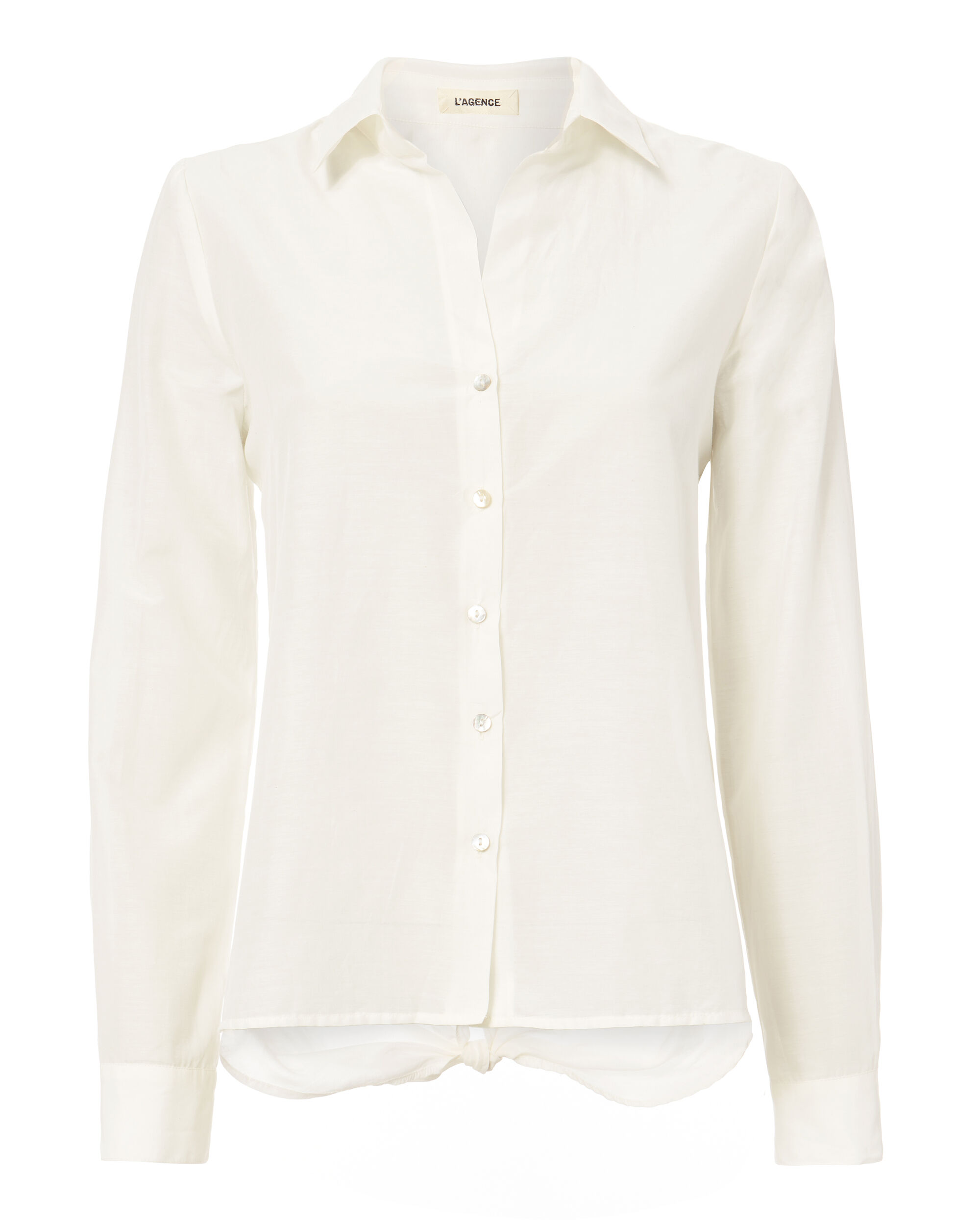 Hana Tie Back Button-Down Top, IVORY, hi-res