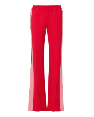Indira Wide Leg Track Pants, RED, hi-res