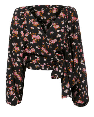 Carla Floral Print Wrap Top, MULTI, hi-res