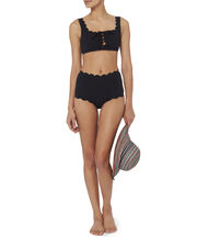 High-Waist Bikini Bottom, BLACK, hi-res