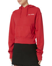 Classic Red Cropped Hoodie, RED, hi-res