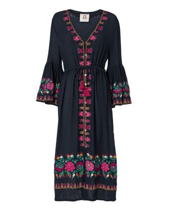 Junie Midi Dress, NAVY, hi-res